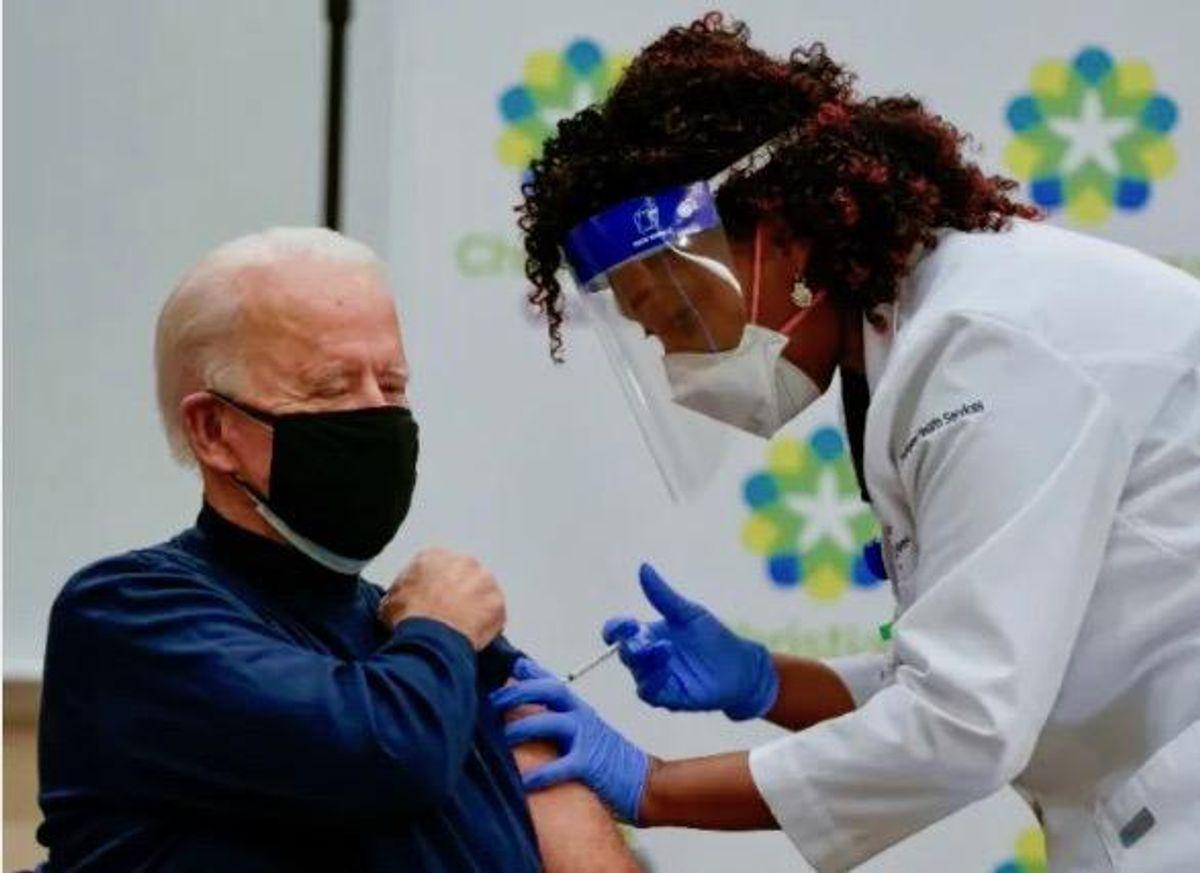 Biden to receive second COVID vaccine dose Monday