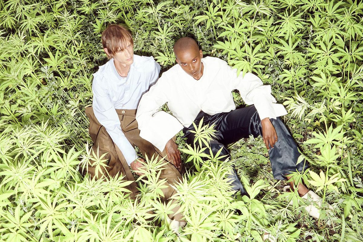 Ninamounah's Models Pose in Hemp Fields
