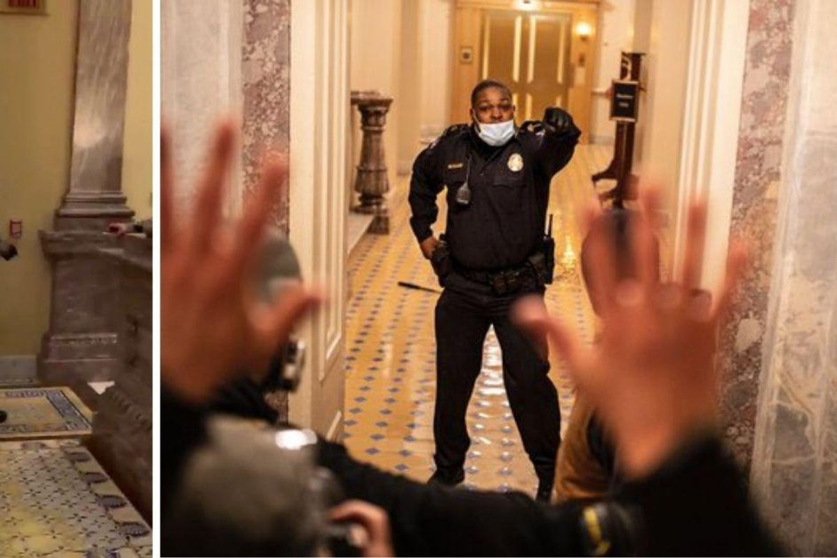 Heroic Officer Eugene Goodman used himself as bait to lure rioters away from the Senate