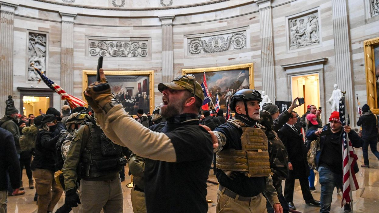 Trump supporters enter US Capitol's Rotunda