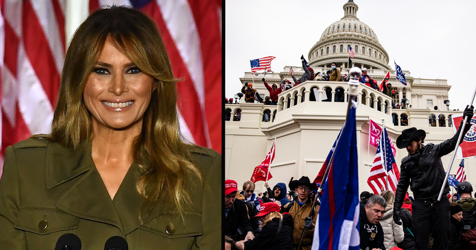 Melania Trump Breaks Silence on Riot at Capitol Building After Attacks Against Her