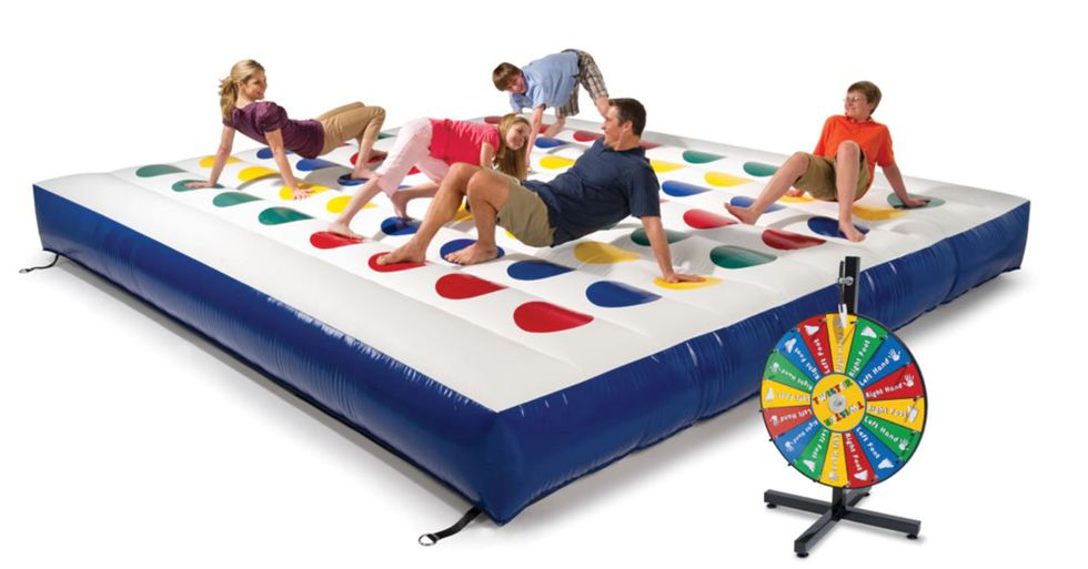 Giant, Inflatable Twister Game Challenges Perfect Balance