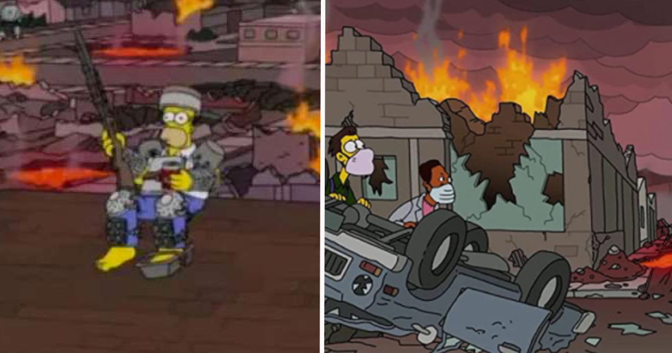 People Expecting The World to End Next Week Due to a New 'Simpsons' Prediction