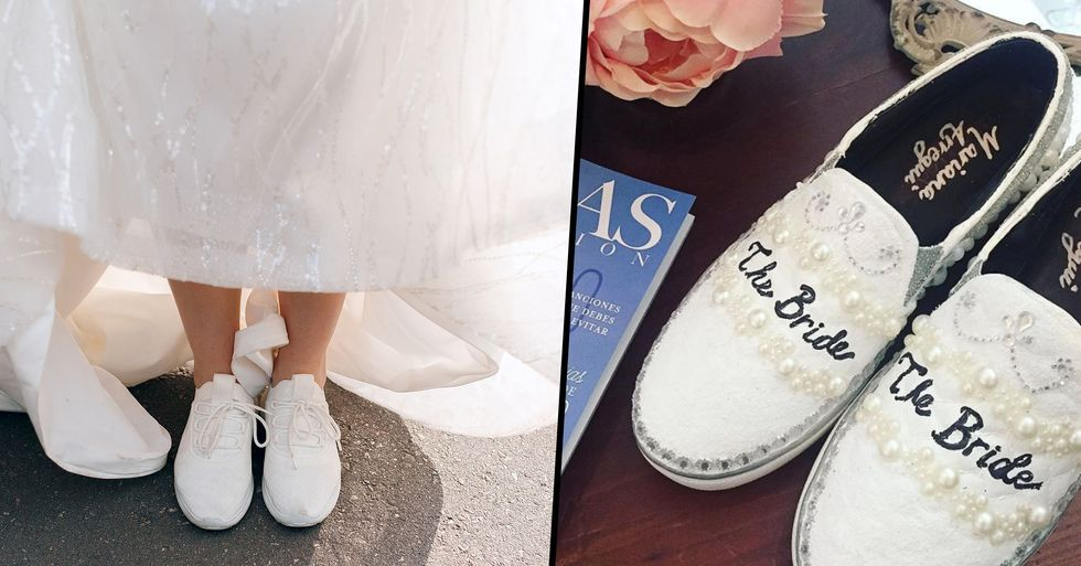 Brides Are Ditching High Heels and Wearing Sneakers Down the Aisle Instead