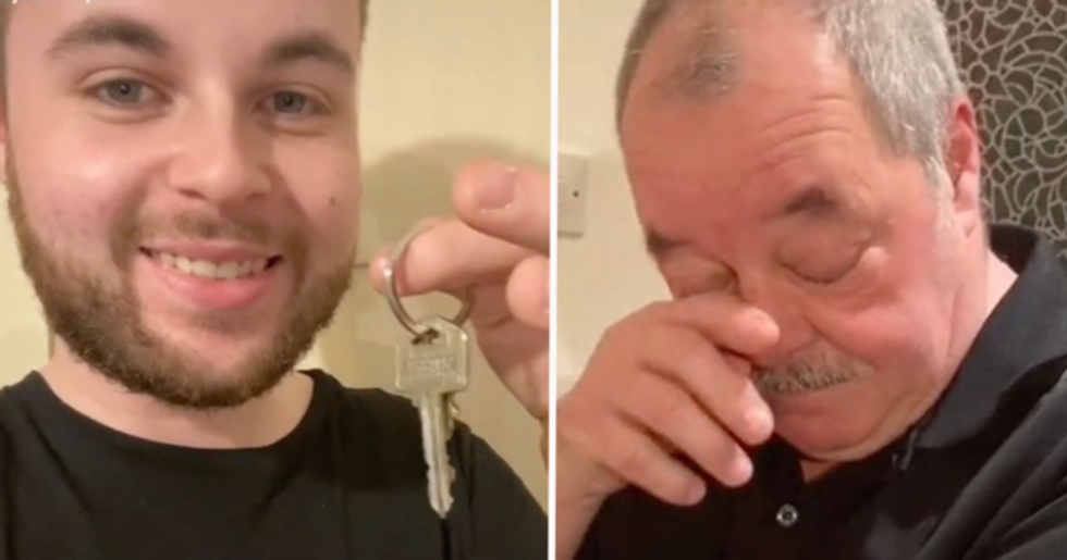 Dad Breaks Down in Tears After Son Tells Him He's Paid Off His Entire Mortgage