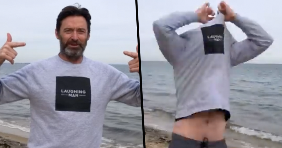 Hugh Jackman Shows That He's Still Ripped at 52 Years Old With Winter Swim