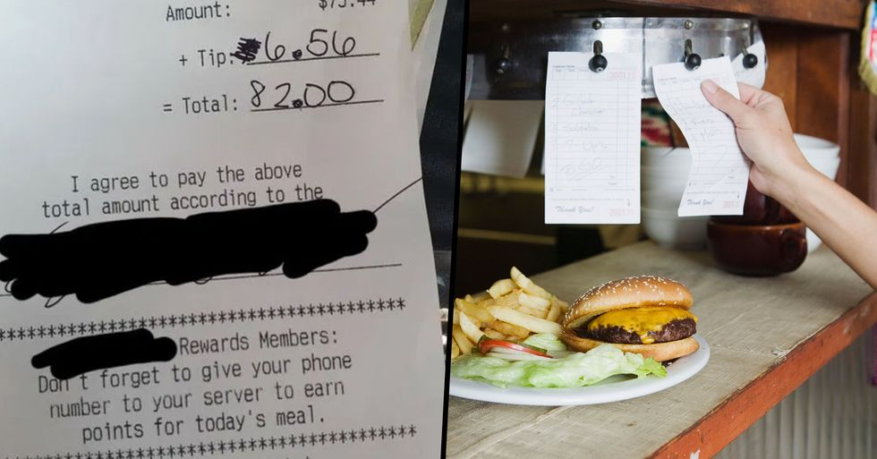 Waitress Left Distraught After Rude Customer Leaves Cruel Note on Receipt