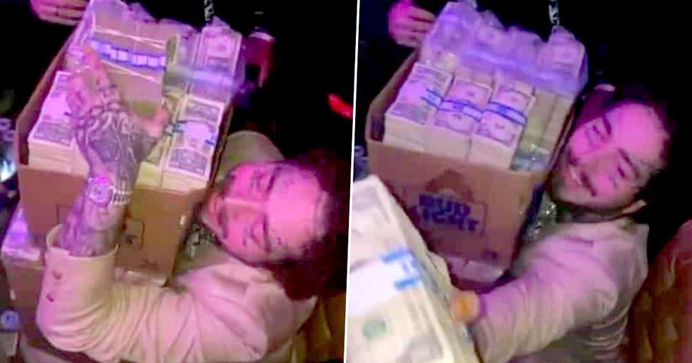 Post Malone Hands out $50,000 Cash in Miami Bar