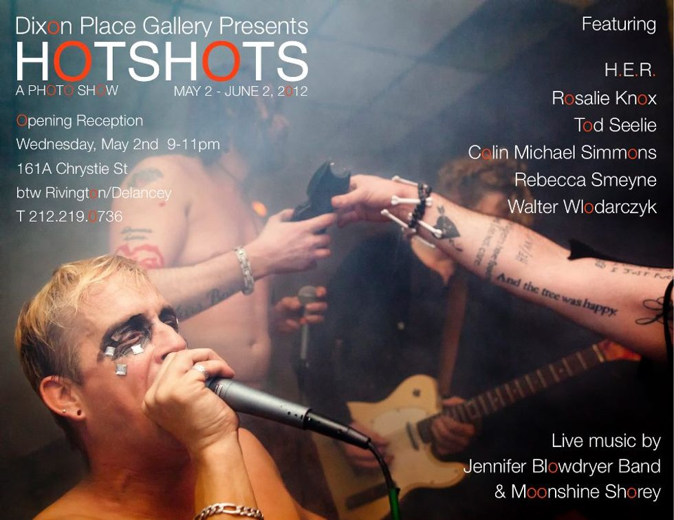 """HOTSHOTS Photography Show Brings """"Blood, Guts and Glitter of Live Rock 'n' Roll"""" to The Gallery at Dixon Place"""