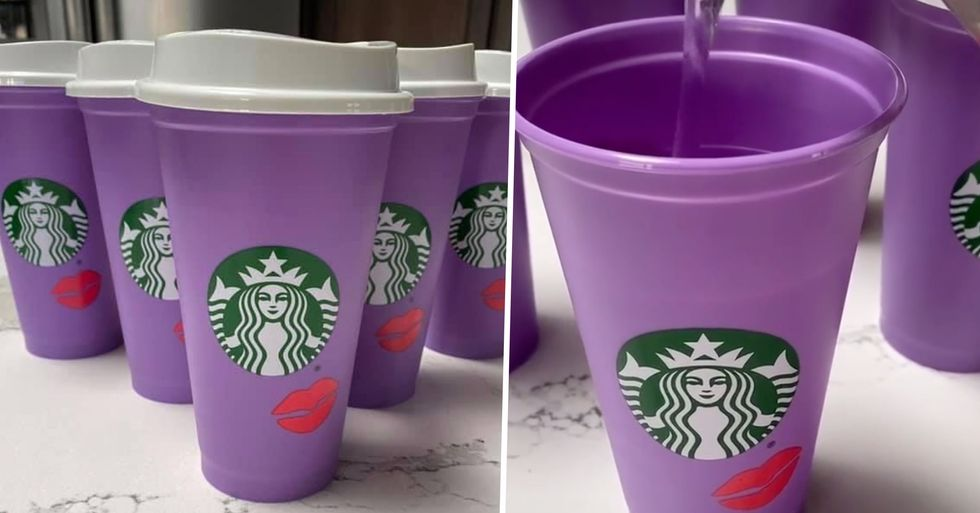 Starbucks Are Selling $3 Color Changing Cup For Valentine's Day