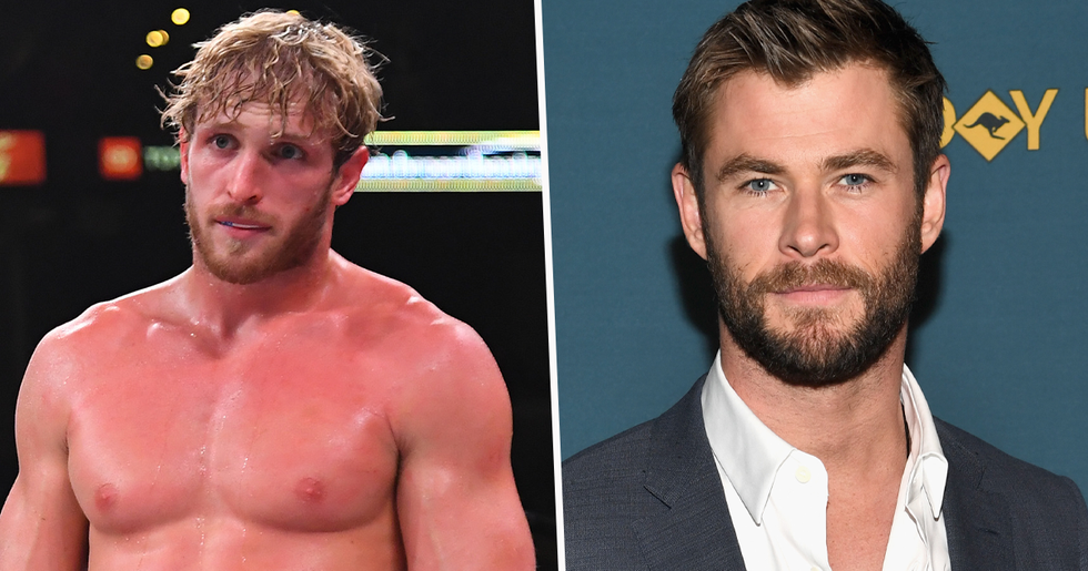 Logan Paul Says he Wants To Fight Chris Hemsworth After Floyd Mayweather