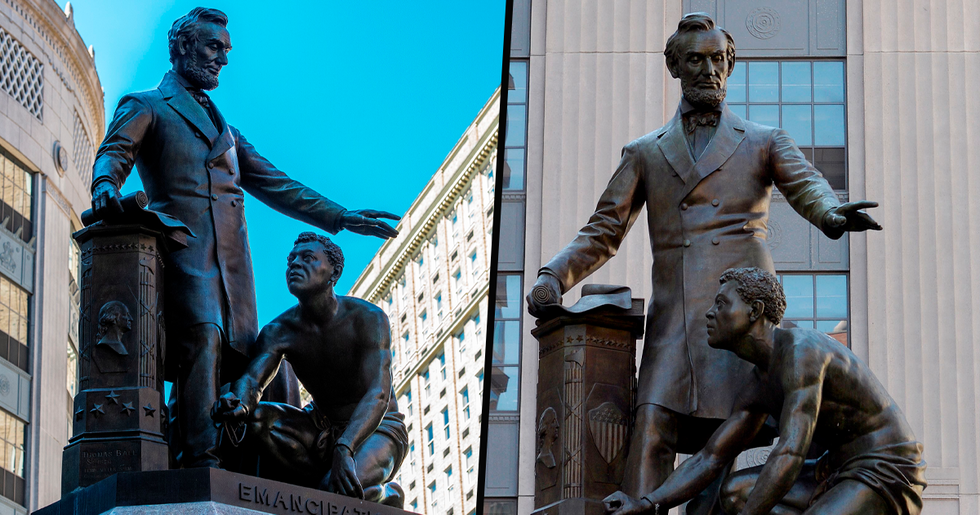 Statue of Slave Kneeling Before President Lincoln Removed After 141 Years