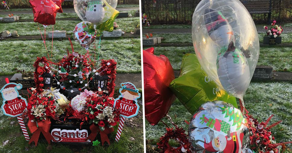 Mom Heartbroken as Christmas Gifts on Baby's Grave Are Stolen