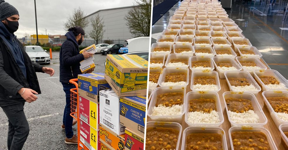 Sikh Community Prepares 800 Meals in Two Hours for Stranded Truck Drivers