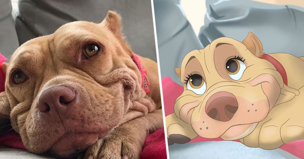 People Send Photos of Their Pets To This Artist and She Disneyfies Them