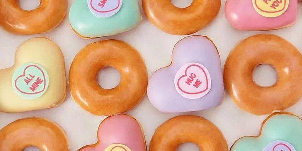 Krispy Kreme Launches Heart Shaped Donuts for Valentine's Day