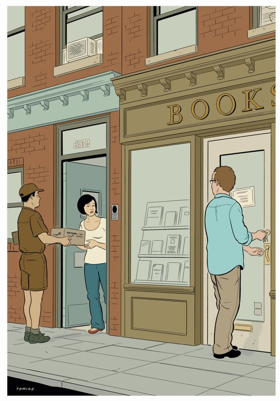 Adrian Tomine's Wonderful New York Drawings