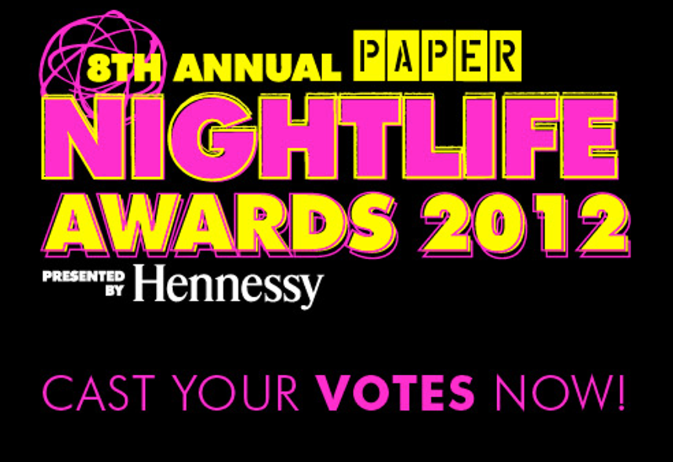 And the Nominees for the 8th Annual PAPER Nightlife Awards Are...
