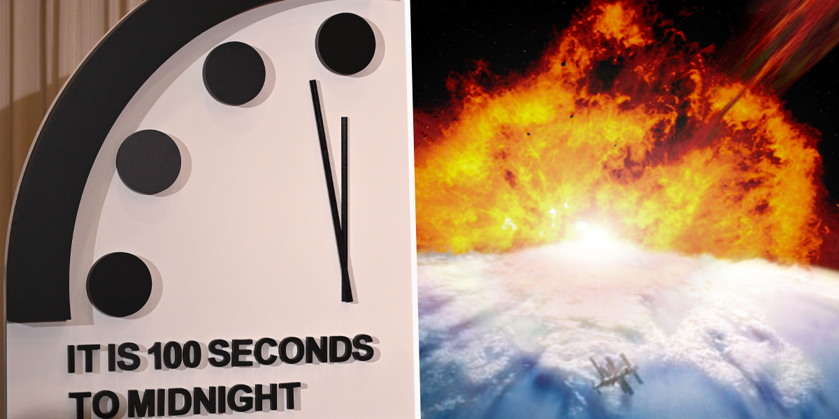 Doomsday Clock Announces We're 100 Seconds Away From Destruction