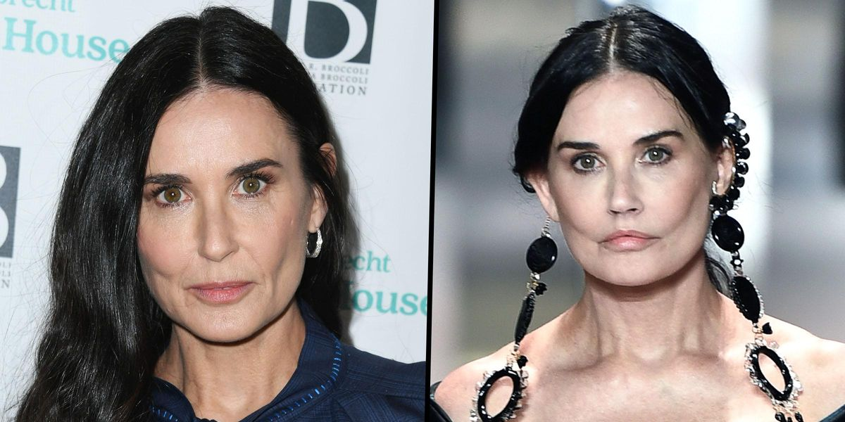 Demi Moore Sparks Plastic Surgery Rumors With Dramatic New Look