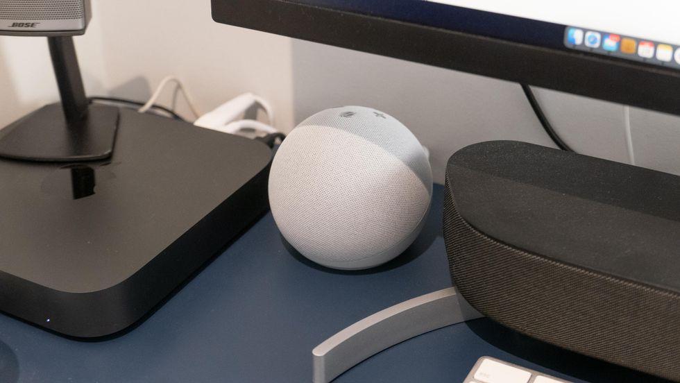Amazon Echo Dot (4th generation) in white