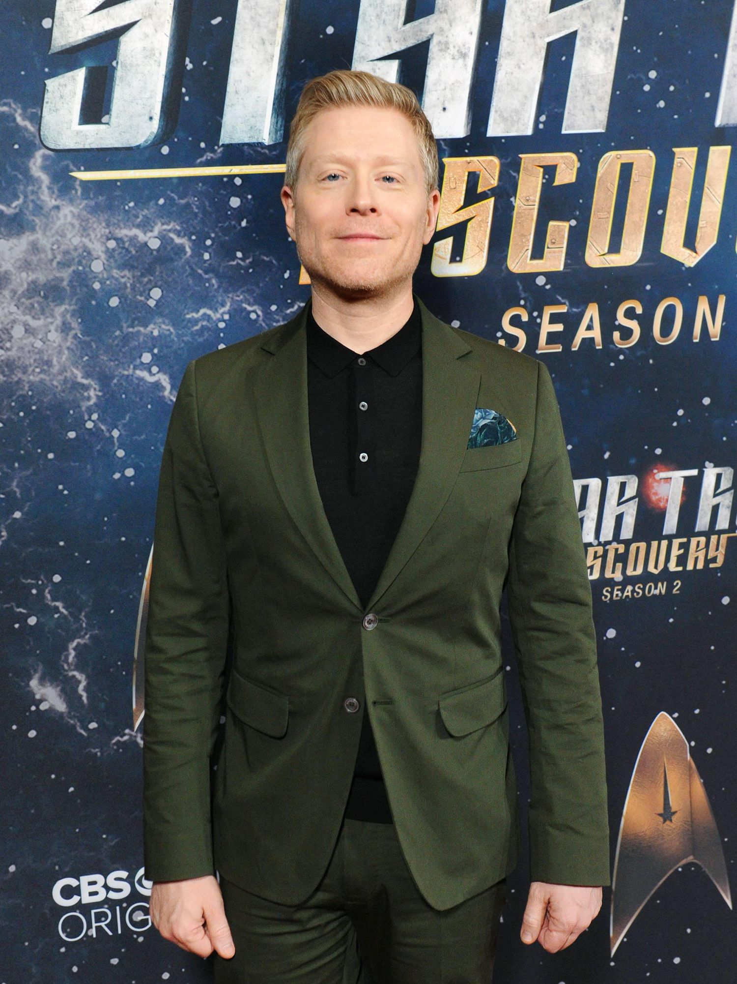 Actor Anthony Rapp of Star Trek: Discovery at a CBS press event