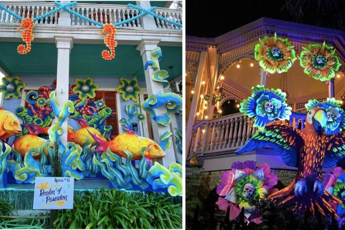 Mardi Gras parades are off, so New Orleans residents are making their houses into 'floats'