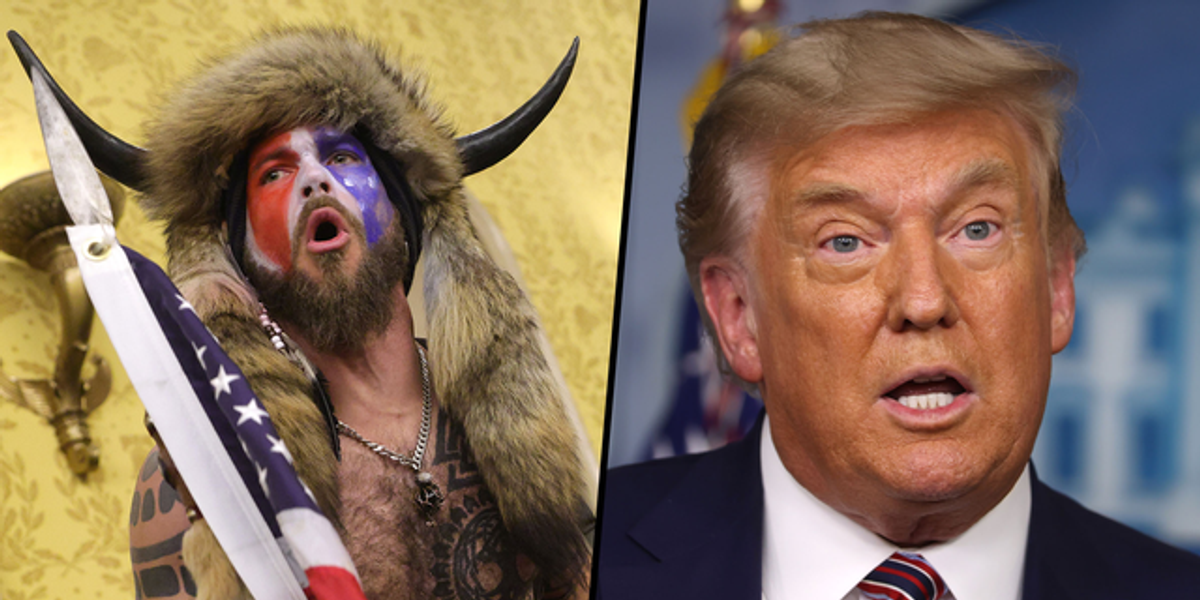 Capitol Rioter Dressed in Fur and Horns Says He's Willing to Testify Against Donald Trump