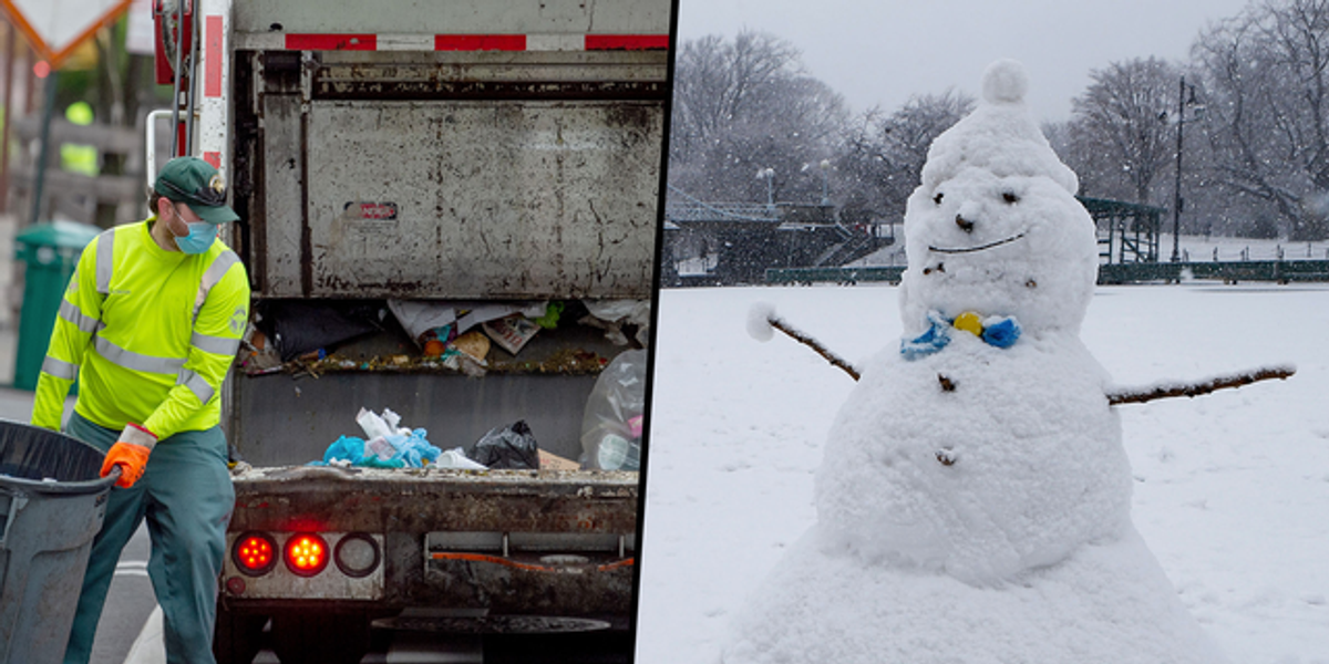 Garbageman Sacked After Being Caught Kicking Head Off 3-Year-Old's Snowman
