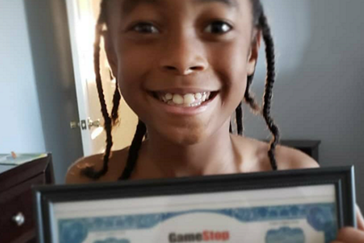 10-year-old cashes in on GameStop stocks he was given 2 years ago for Kwanzaa
