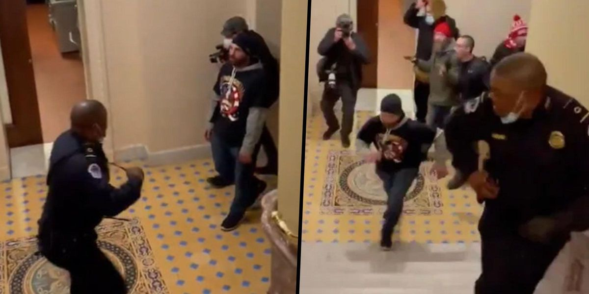 Brothers Caught on Video Chasing a Black Officer During the Capitol Riot Have Been Charged