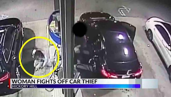 WATCH:Woman wallops would-be car thief at gas station, tosses him to the ground: 'I'm not in the mood tonight'