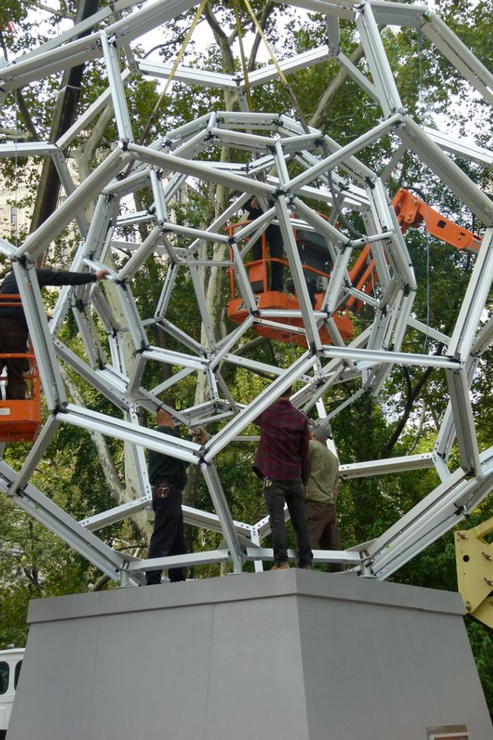 """Leo Villareal's """"BUCKYBALL"""" Is Moving In!"""