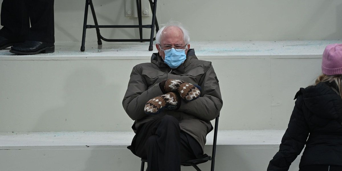 Teacher Says Bernie Sanders' Mittens Are a 'Lesson in White Privilege'