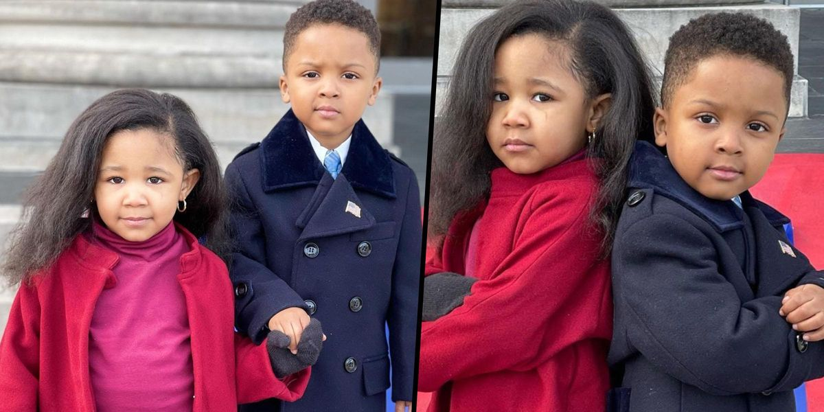 Adorable 4-Year-Olds Dress up as Barack and Michelle Obama on Inauguration Day