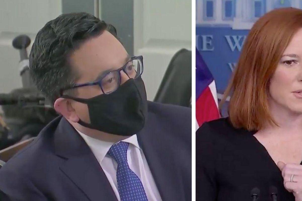 Press Sec. Jen Psaki Throws Some Epic Shade At Trump In Response To Reporter's Bizarre Question