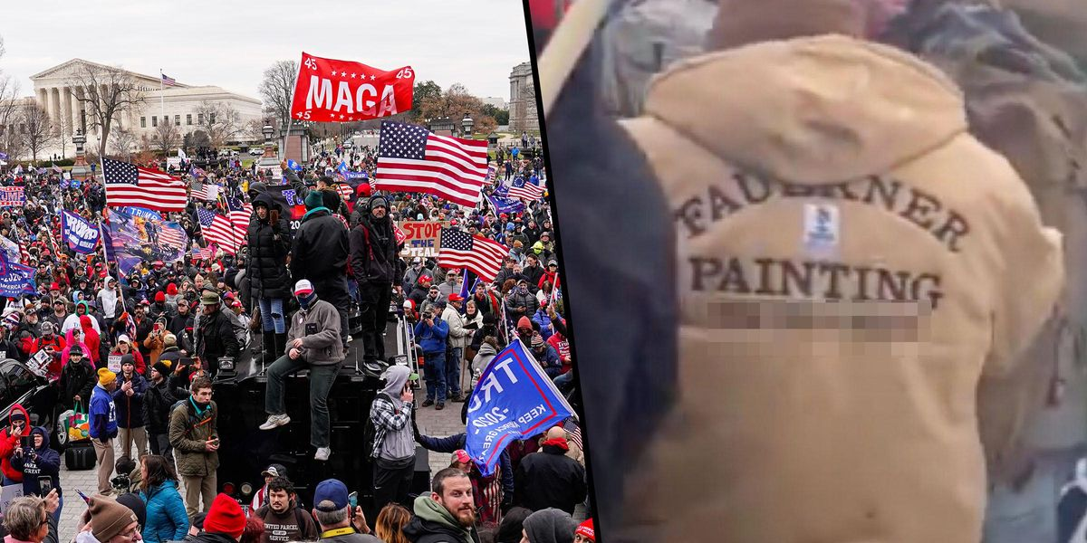 Capitol Rioter Wore a Jacket With His Company's Phone Number on the Back, FBI Says