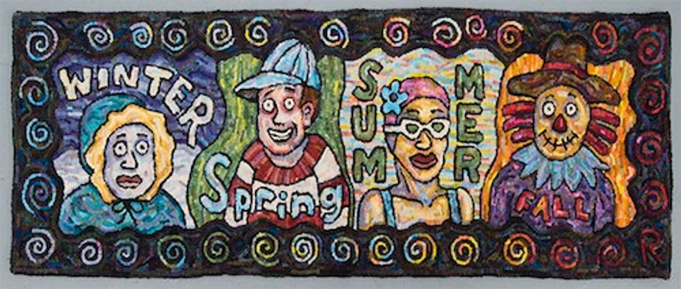 We're Floored: Roz Chast's Rugs at the Julie Saul Gallery