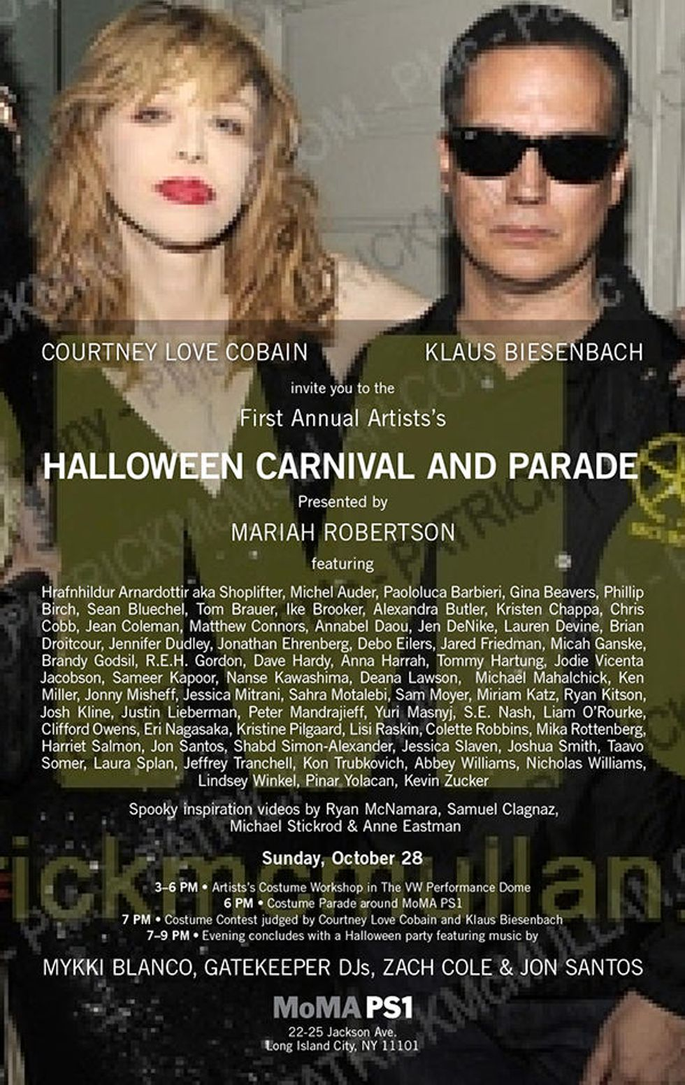 Courtney Love + Klaus Biesenbach Are Judging MoMA PS1's Artists' Halloween Parade