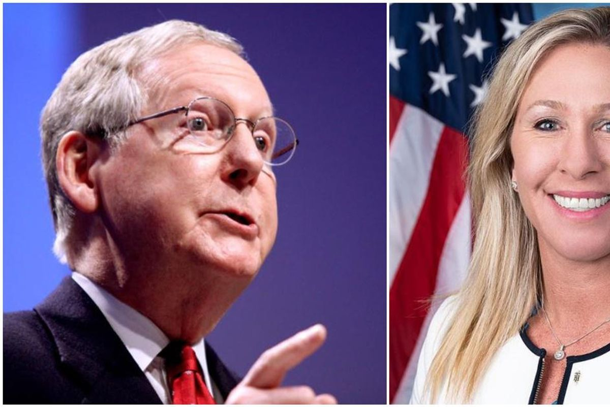 Mitch McConnell hits back at QAnon supporter Marjorie Taylor Greene calling her views a 'cancer'