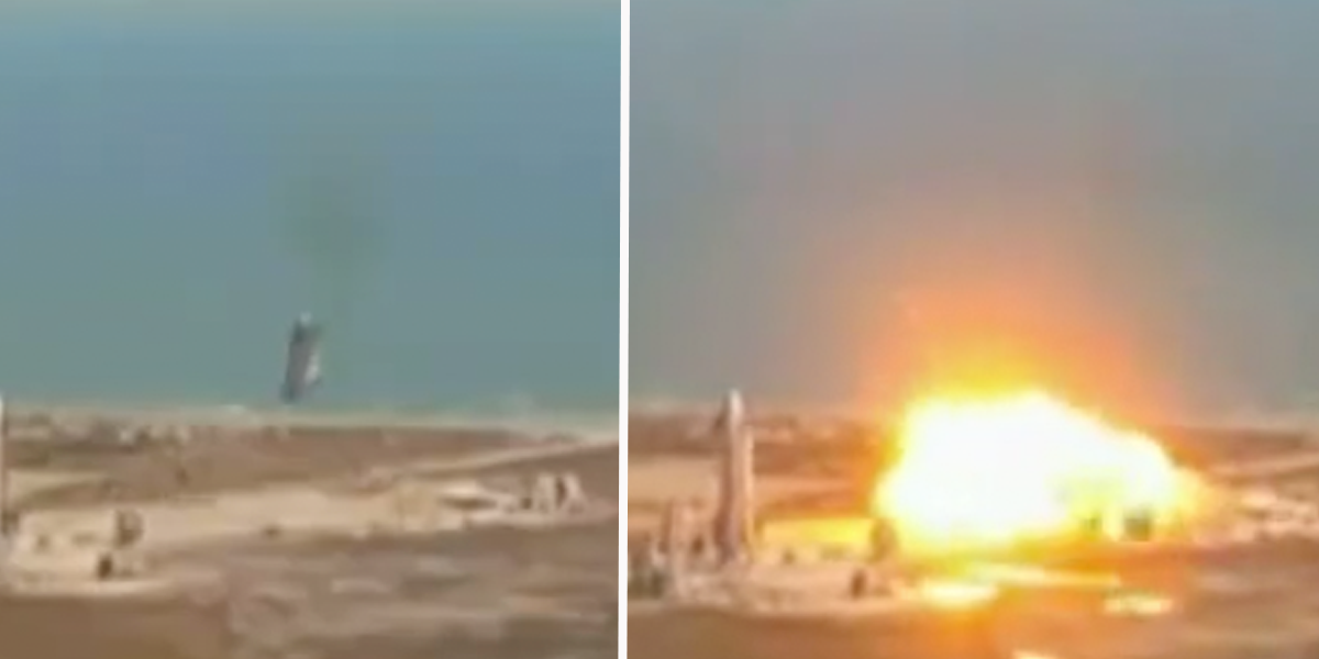 SpaceX Starship Explodes on Landing After Test Flight
