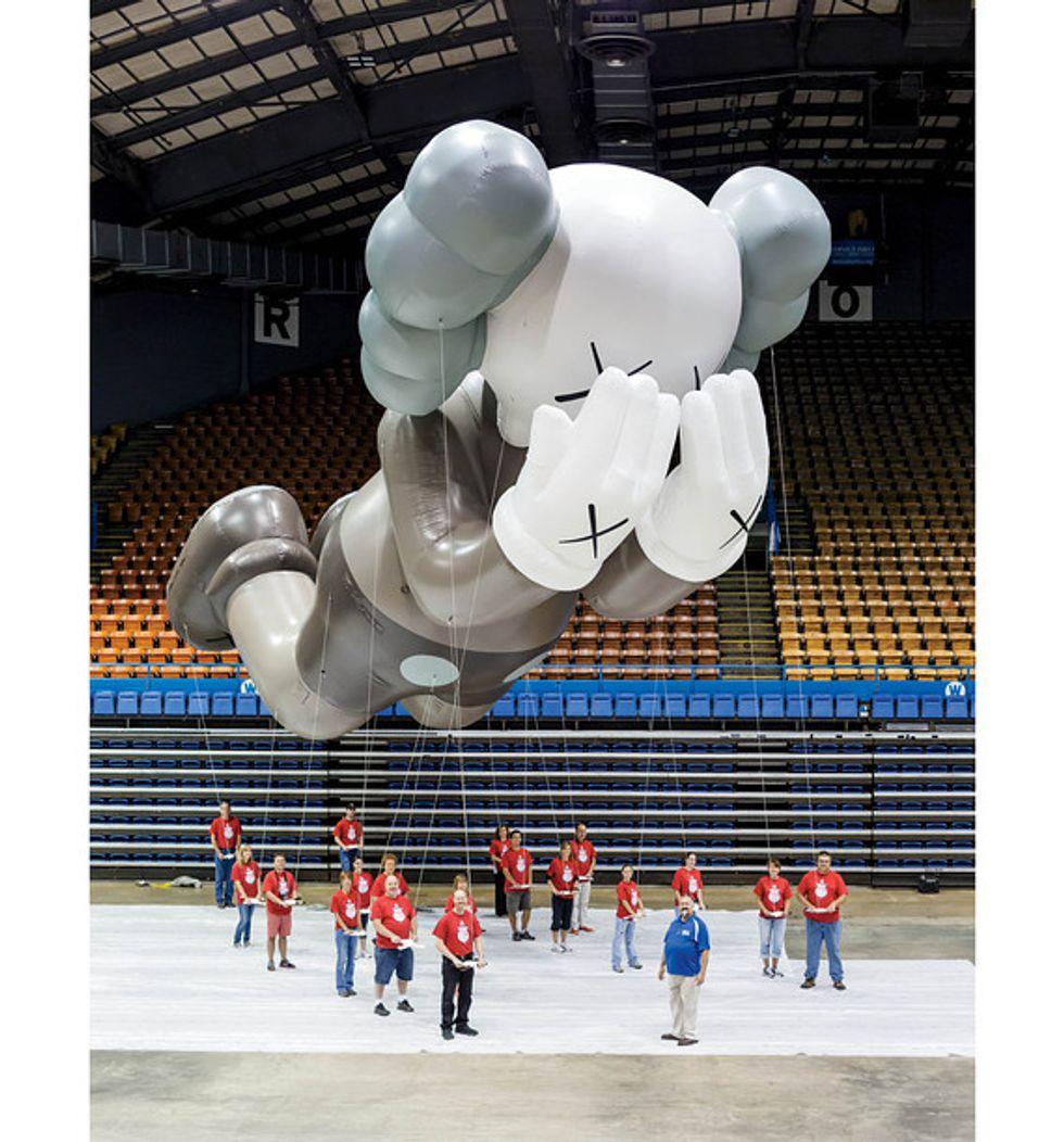 Hurricane Sandy Frankenstorm + KAWS' Macy's Thanksgiving Parade Balloon = Eight Items or Less