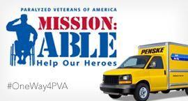 PVA logo with Penske truck