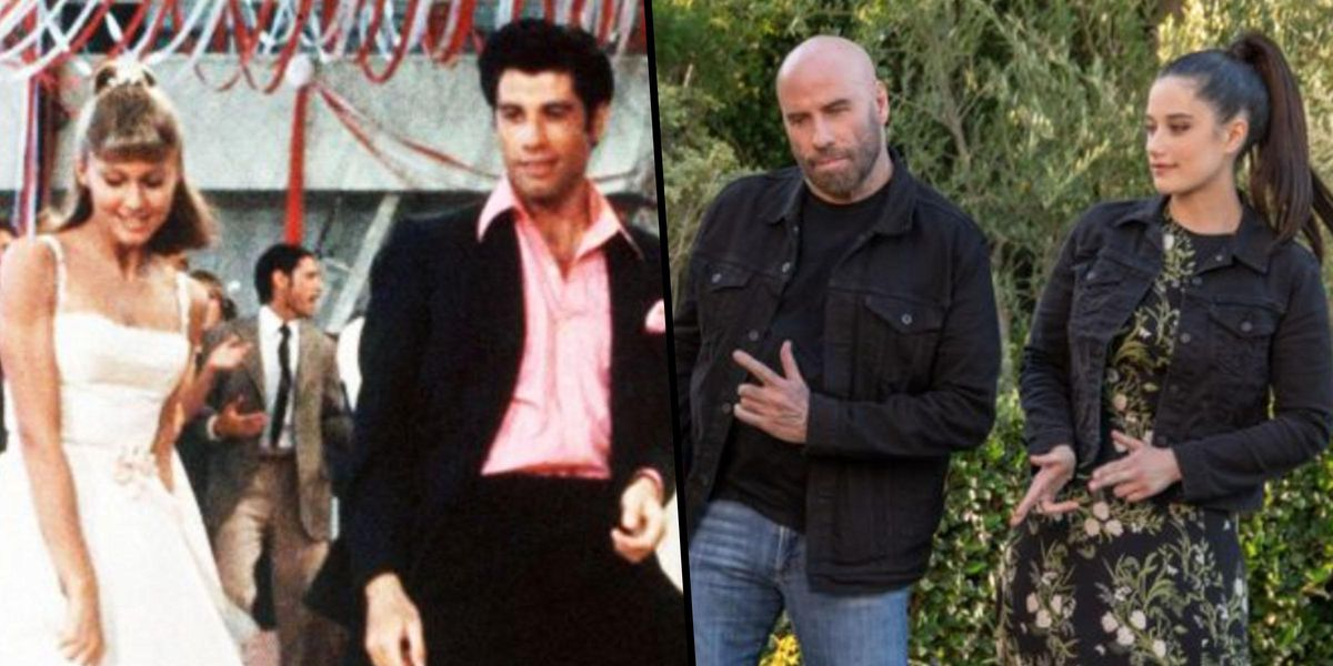 John Travolta Recreates Iconic 'Grease' Dance With His Daughter