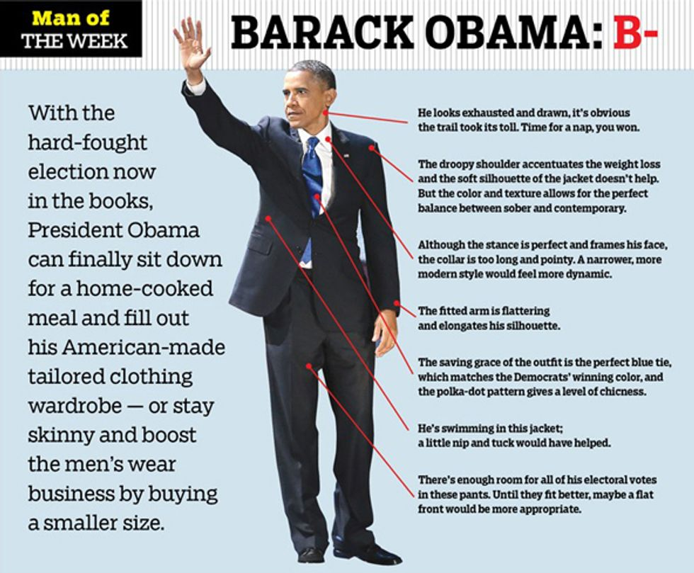 WWD Really Doesn't Like Obama's Look Right Now + Scarlett Johansson Channels Her Inner Psycho in Today's Style Scraps