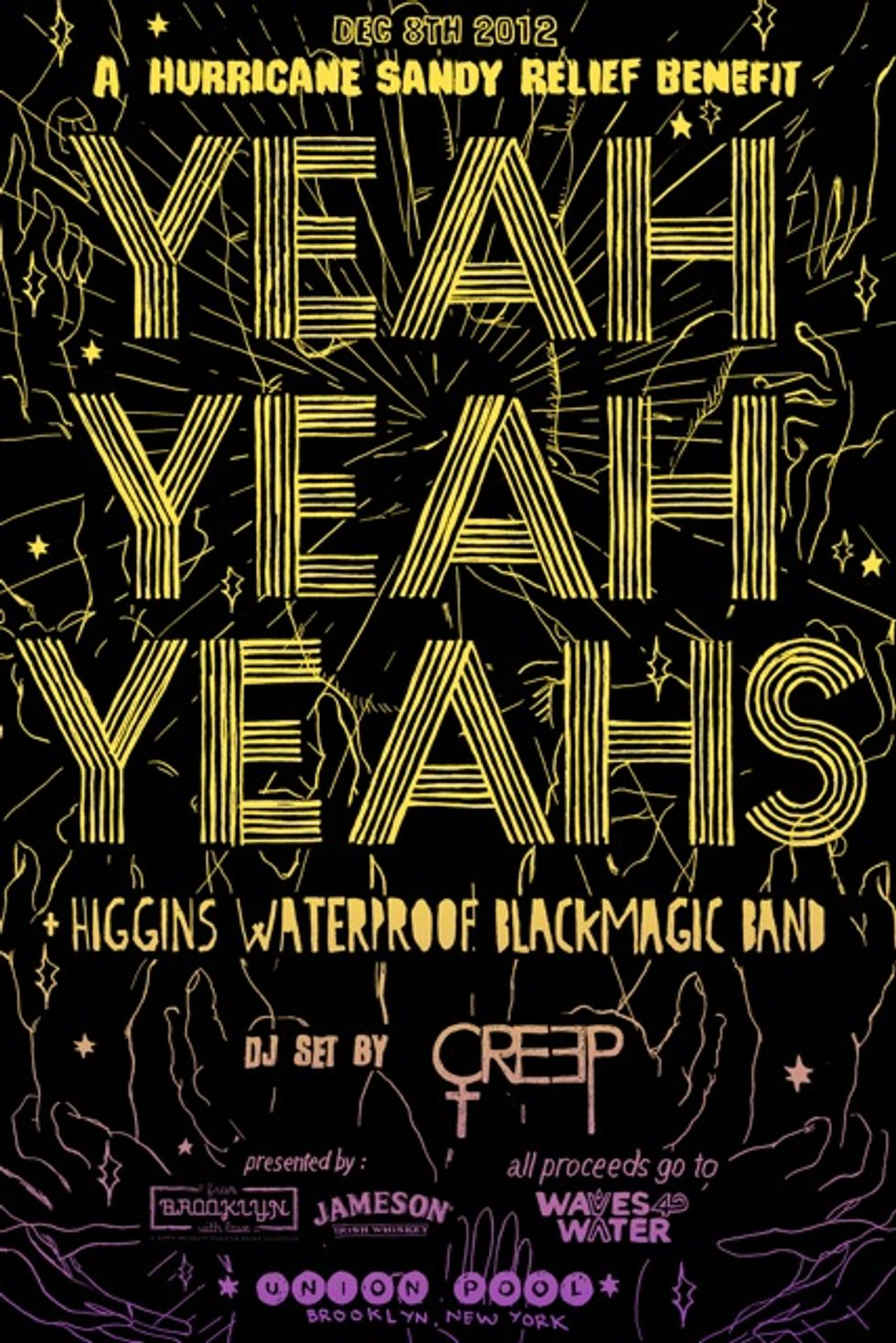 Yeah Yeah Yeahs Announce Hurricane Sandy Benefit at Union Pool