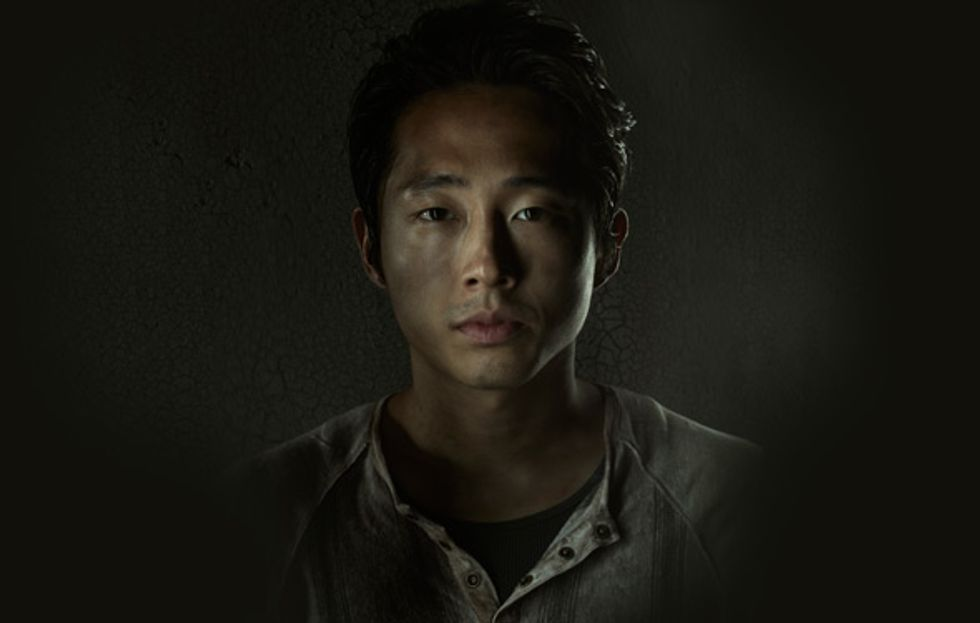 "Walking Dead's Steven Yeun: ""There Are a Million Dogs on Set"""