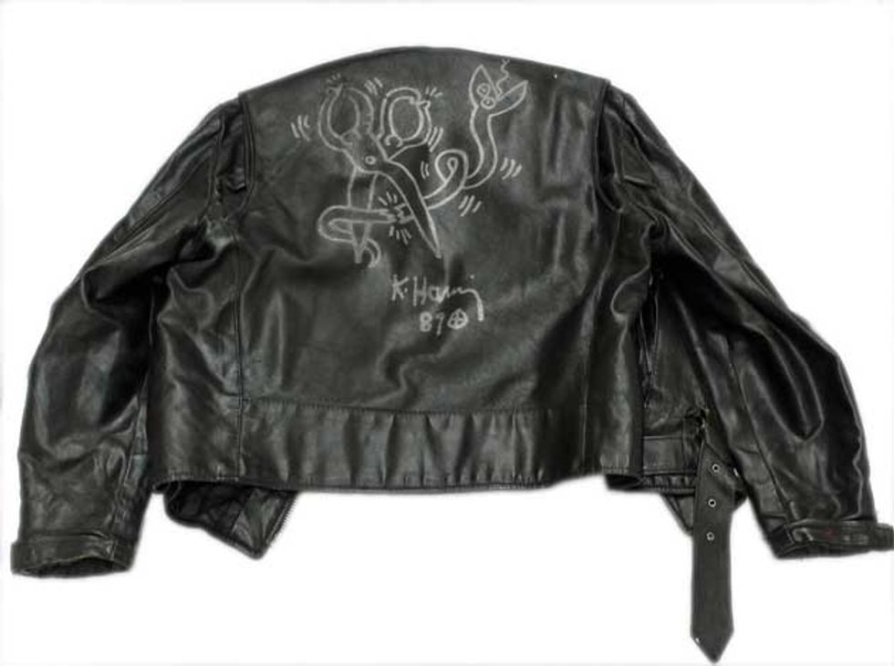 For Sale: Keith Haring-Illustrated Leather Jacket