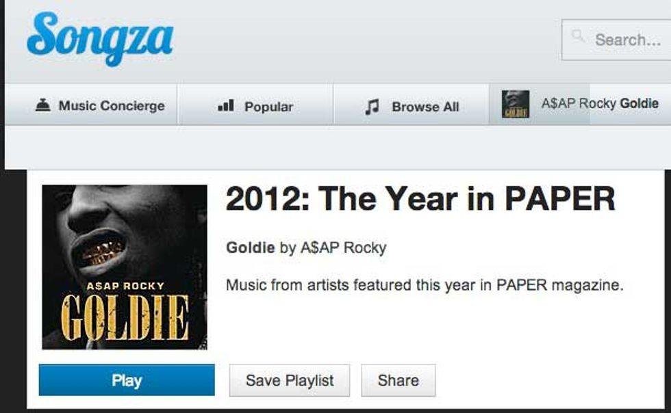 Listen to PAPER's 2012!