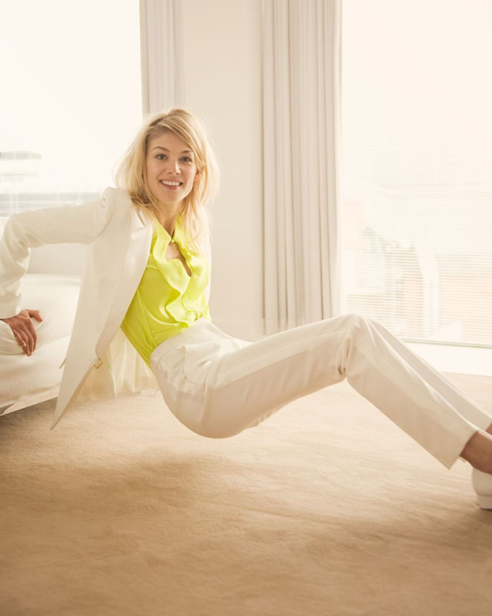Actress Rosamund Pike Is Ready For Action